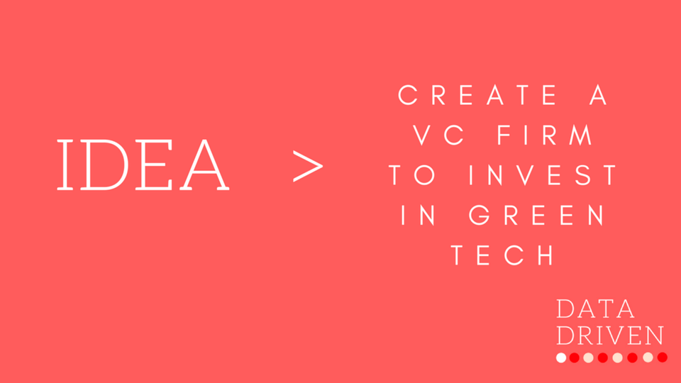 Selling an idea for free: a VC firm focused on Green Tech investments